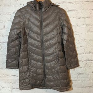 CALVIN KLEIN DOWN FEATHERED HOODED BUBLE JACKET